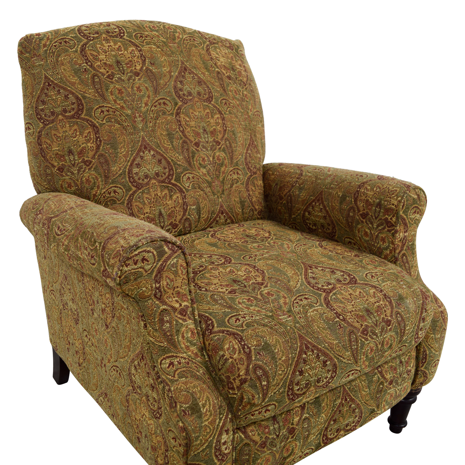 ... Shop Green And Burgundy Paisley Recliner