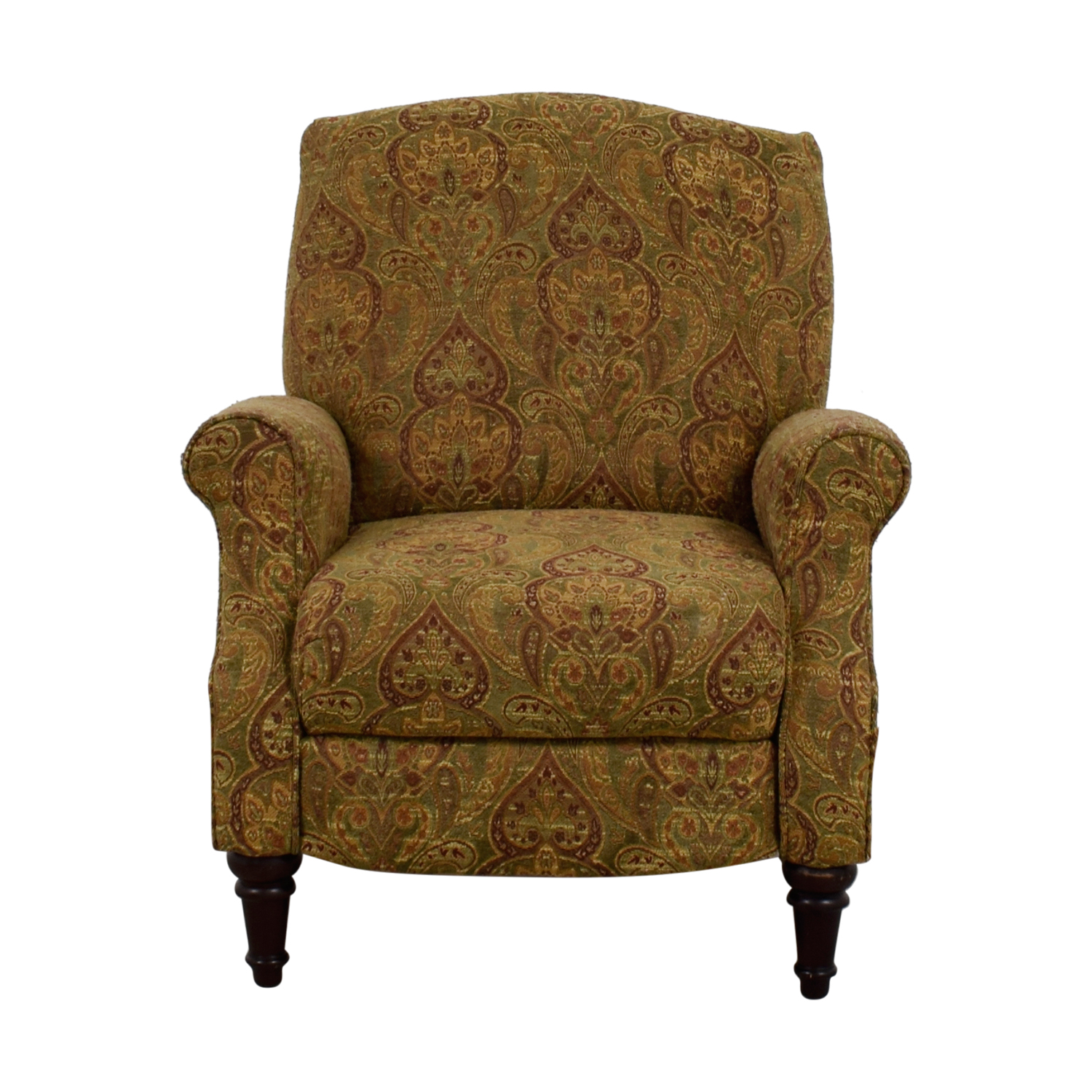 Shop Green And Burgundy Paisley Recliner Chairs