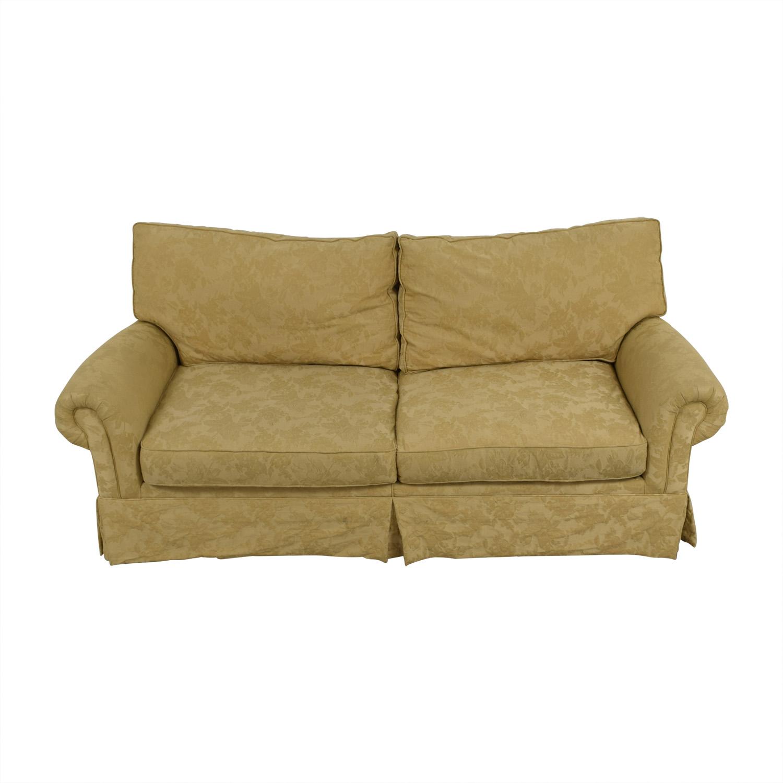 Burnheardt Burnheardt Tan Jacquard Two-Cushion Couch on sale