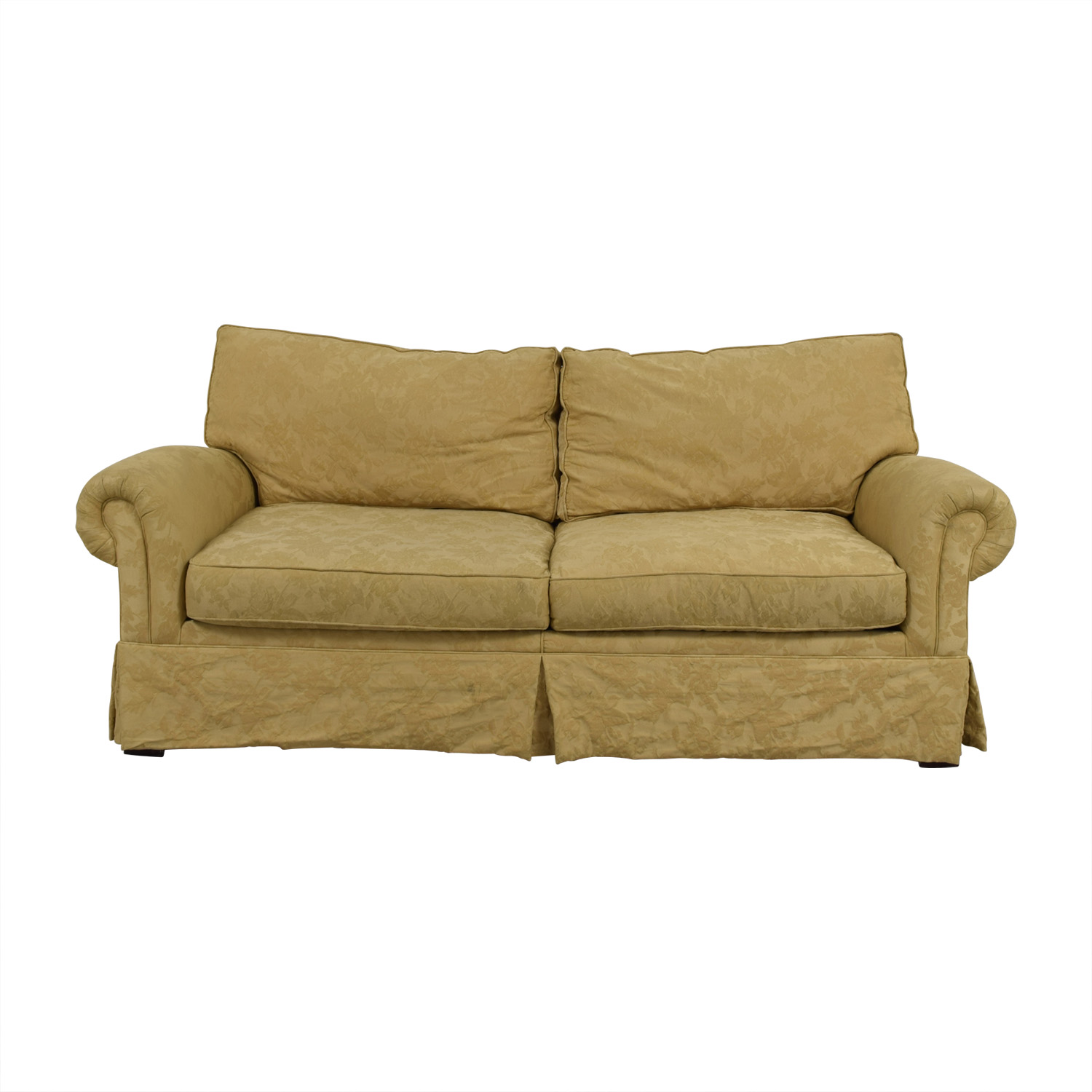 Burnheardt Burnheardt Tan Jacquard Two-Cushion Couch discount