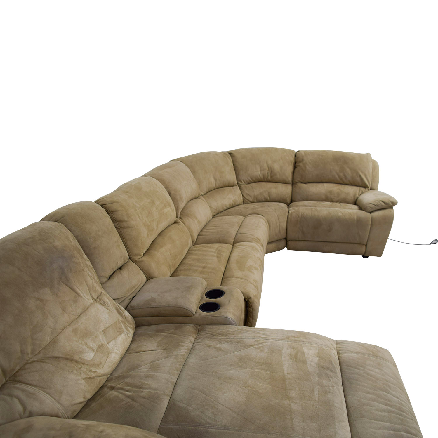 Terrific 68 Off Raymour Flanigan Raymour Flanigan Cindy Crawford Mackenzie Microfiber Power Reclining Sectional Sofas Unemploymentrelief Wooden Chair Designs For Living Room Unemploymentrelieforg