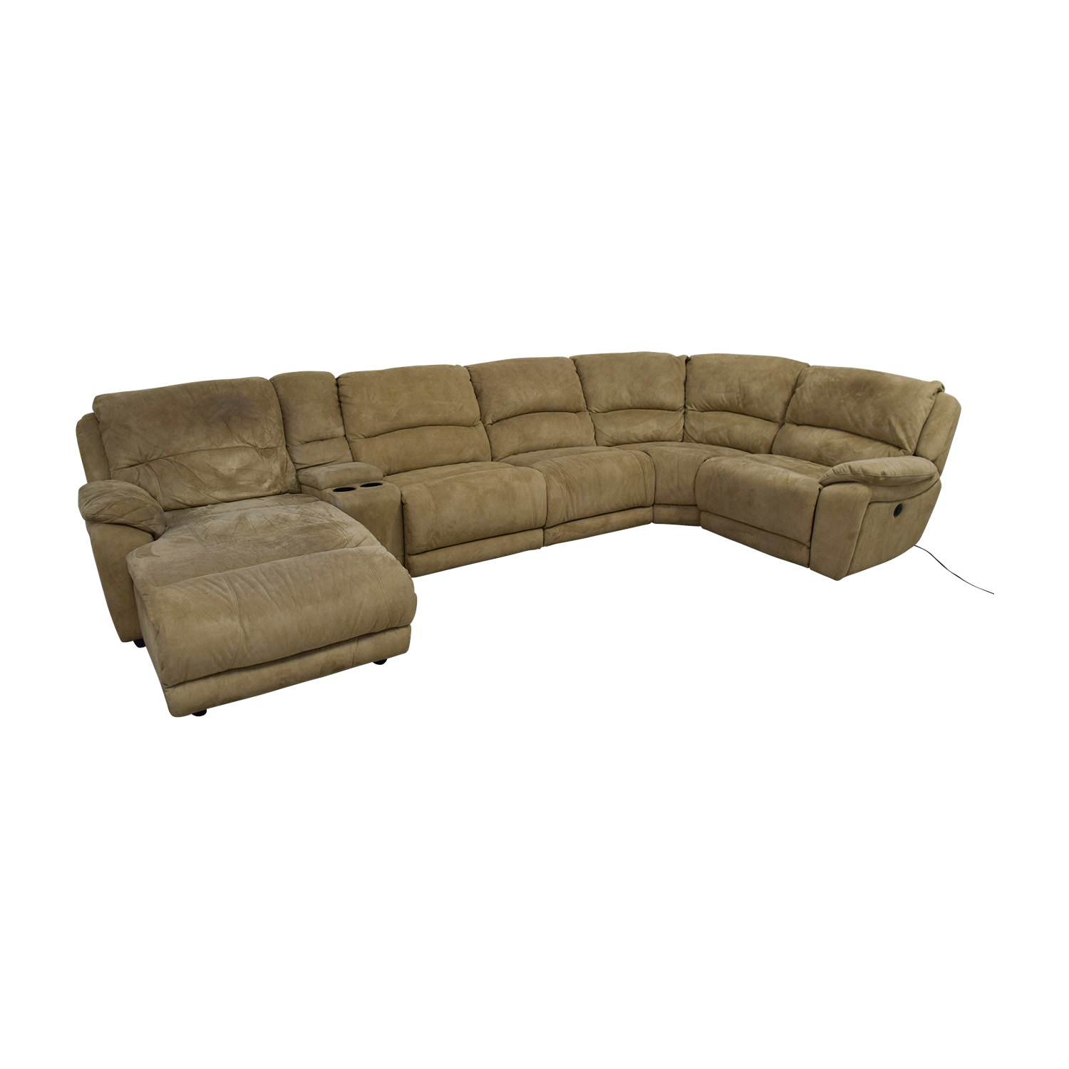 Raymour & Flanigan Raymour & Flanigan Cindy Crawford Mackenzie Microfiber Power Reclining Sectional Sofas