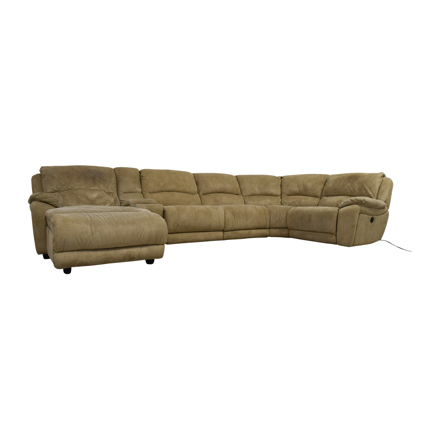 Raymour & Flanigan Raymour & Flanigan Cindy Crawford Mackenzie Microfiber Power Reclining Sectional used