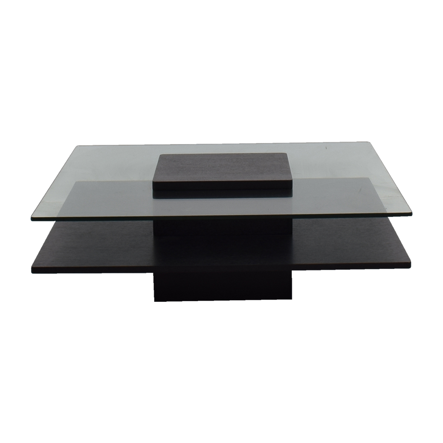 buy Downtown Furniture Tinted Glass and Wood Coffee Table Downtown Furniture