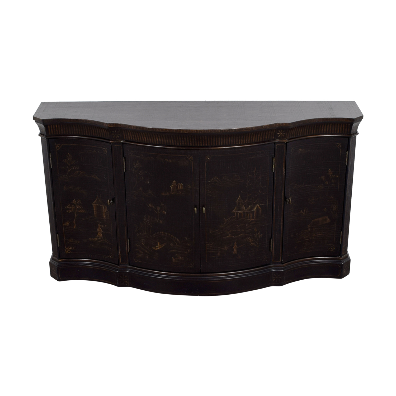 Ethan Allen Ethan Allen Asian Etched Sidebar Buffet
