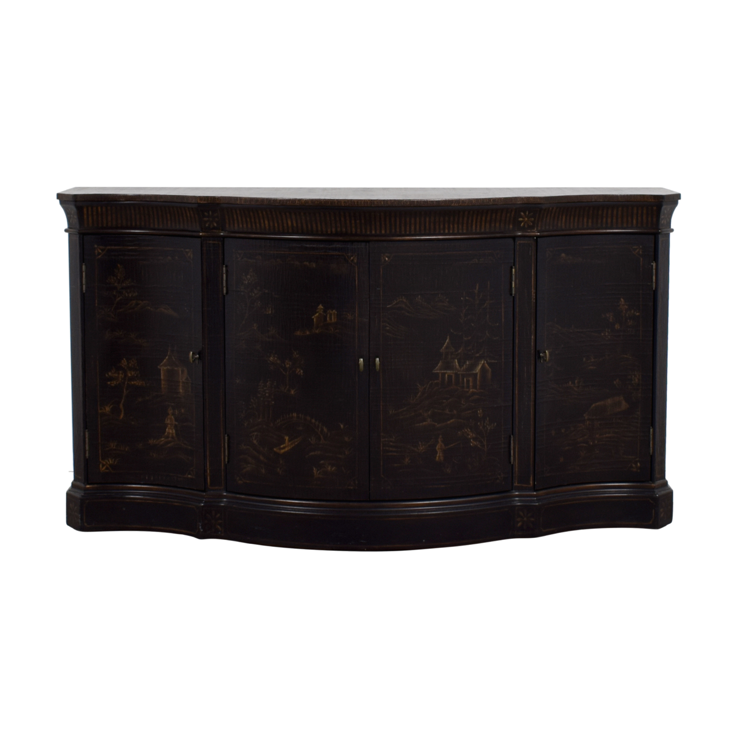 Ethan Allen Ethan Allen Asian Etched Sidebar Buffet on sale