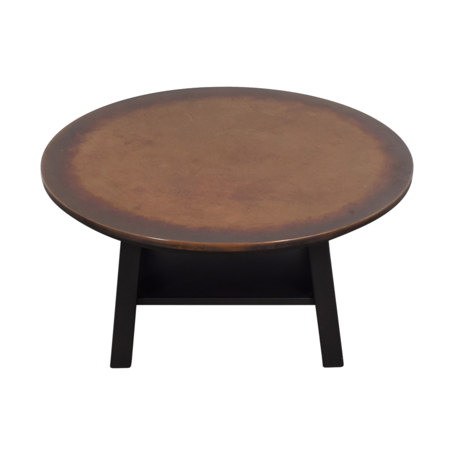 Round Copper Top Coffee Table nyc