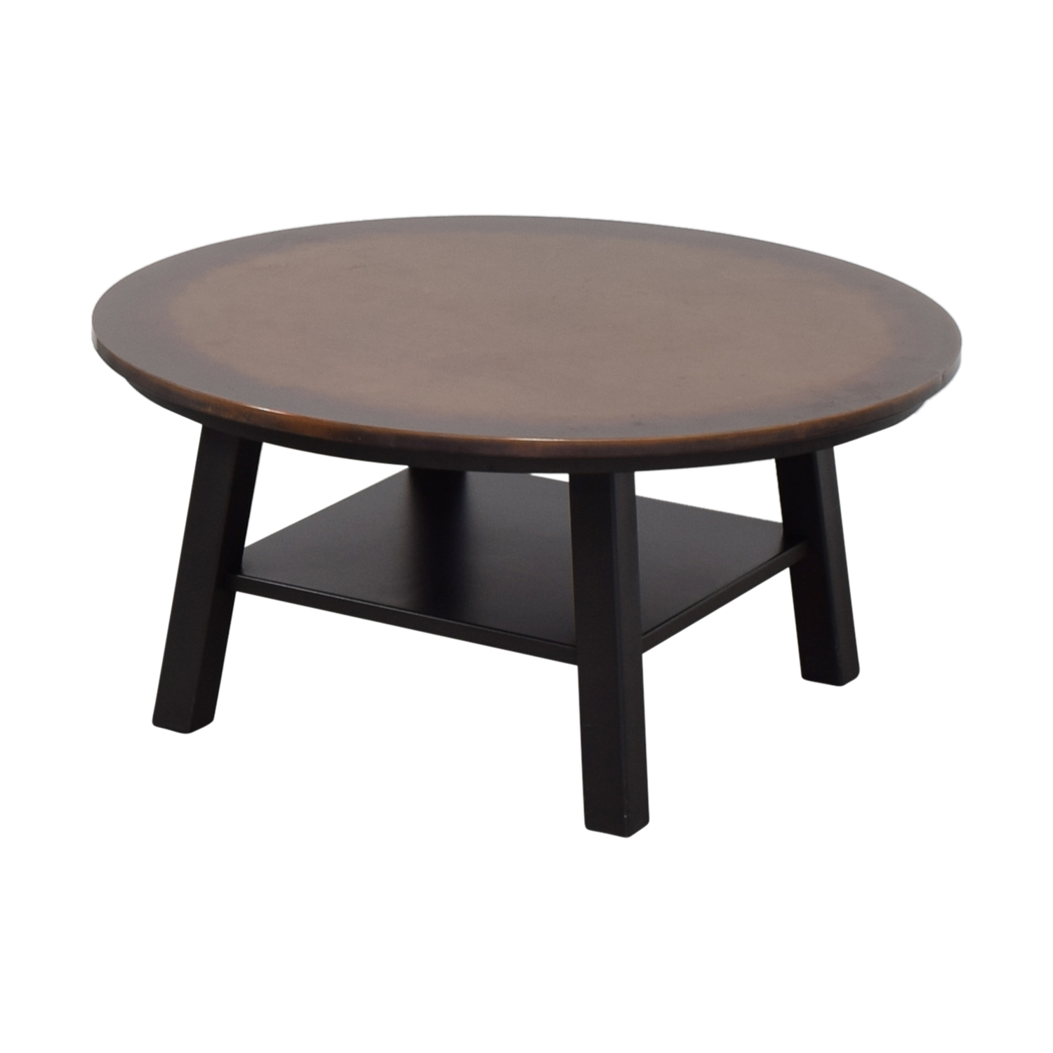 90 off round copper top coffee table tables. Black Bedroom Furniture Sets. Home Design Ideas