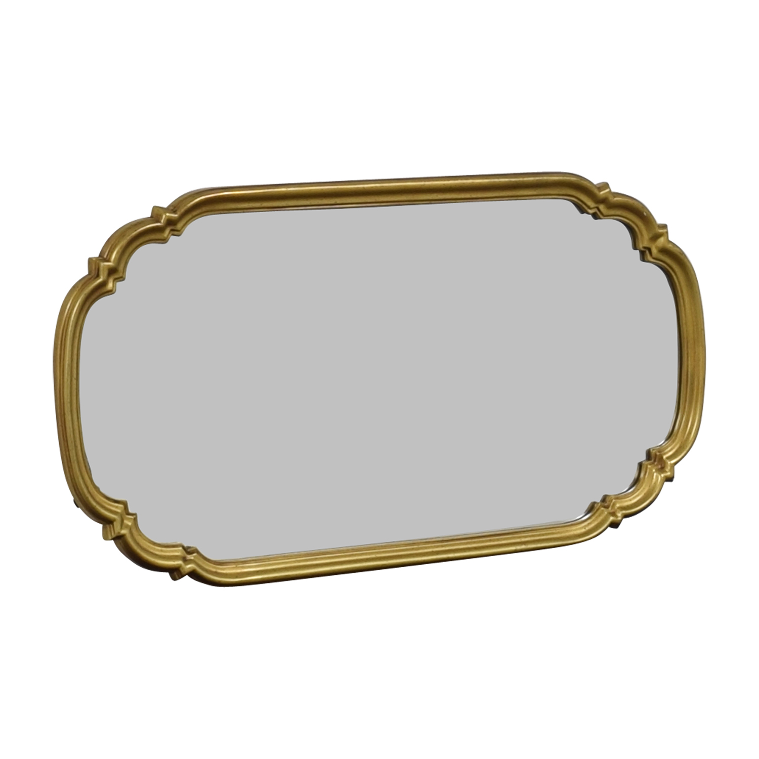 Oval Ornate Gold Framed Mirror / Sofas