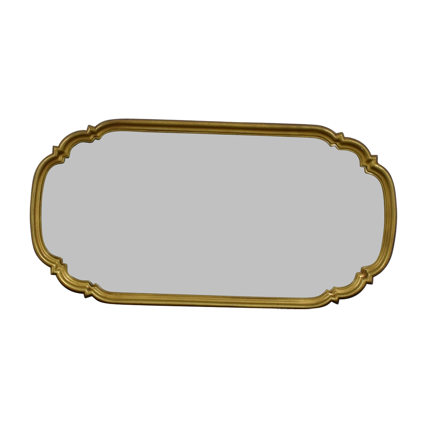 Oval Ornate Gold Framed Mirror dimensions