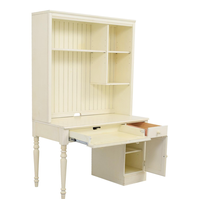 ... Ethan Allen Ethan Allen Vanilla Wood Desk With Hutch On Sale ...