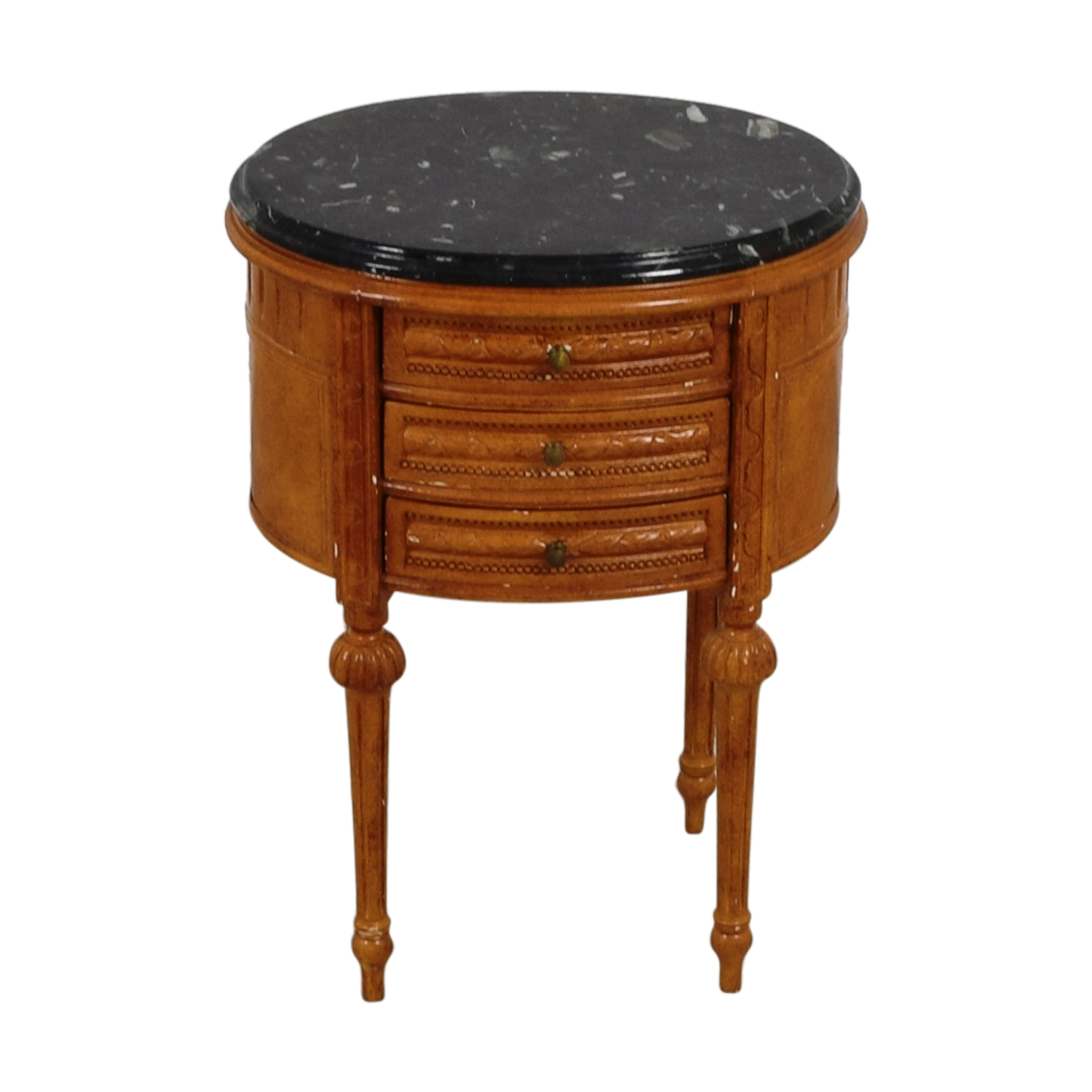 shop Antique Oval Marble Top Side Table Tables
