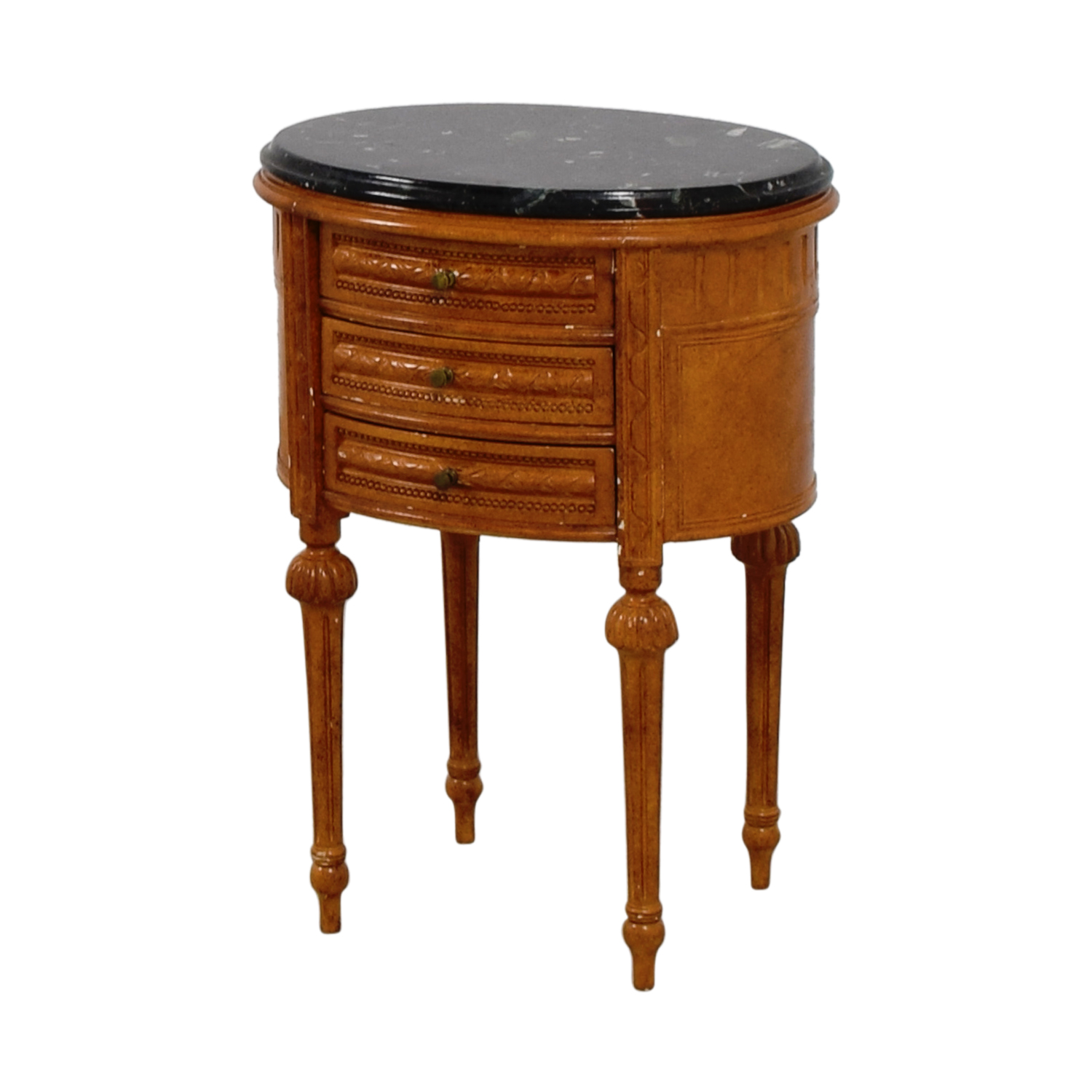 Antique Oval Marble Top Side Table price