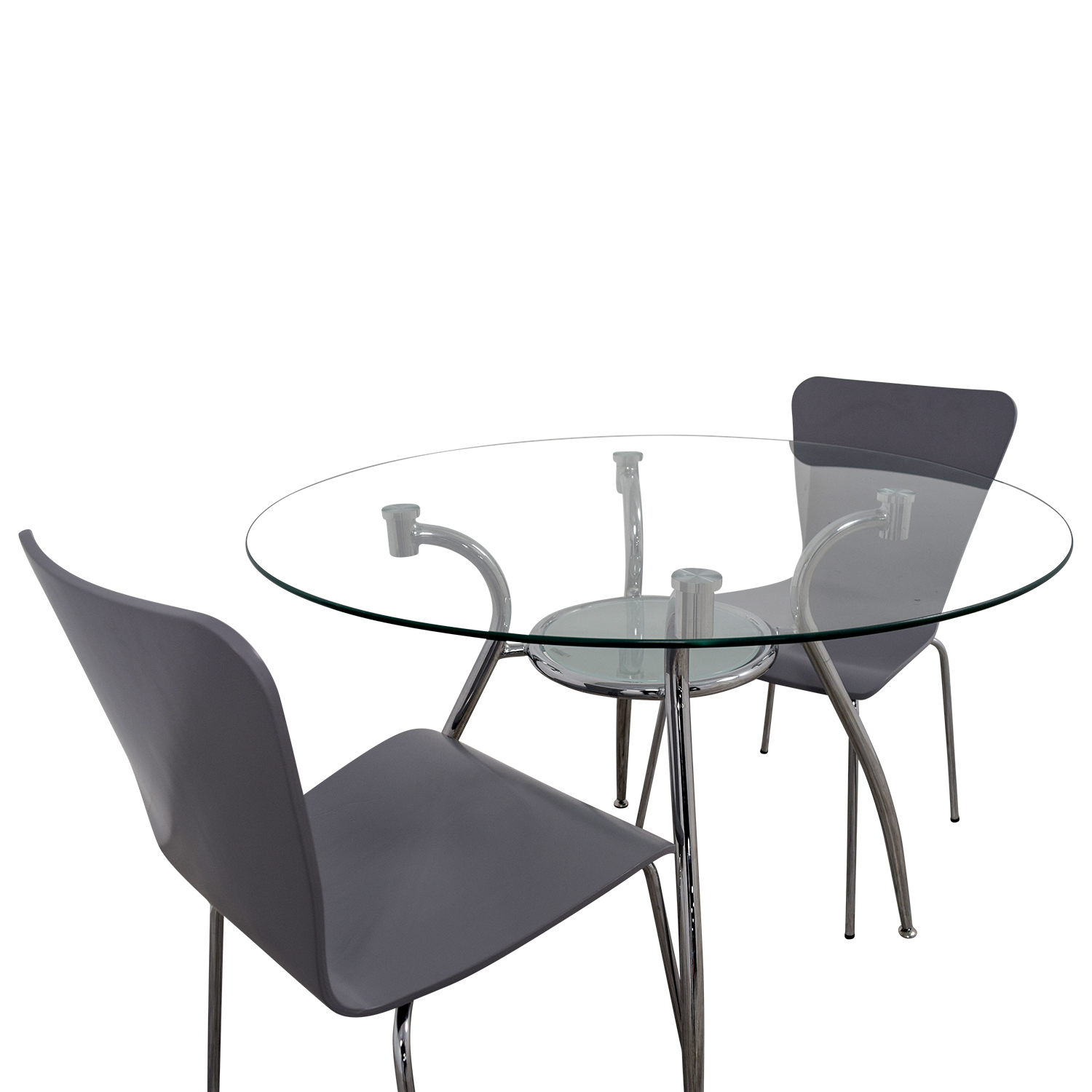 ... Glass Round Table Set With Chairs Dining Sets ...