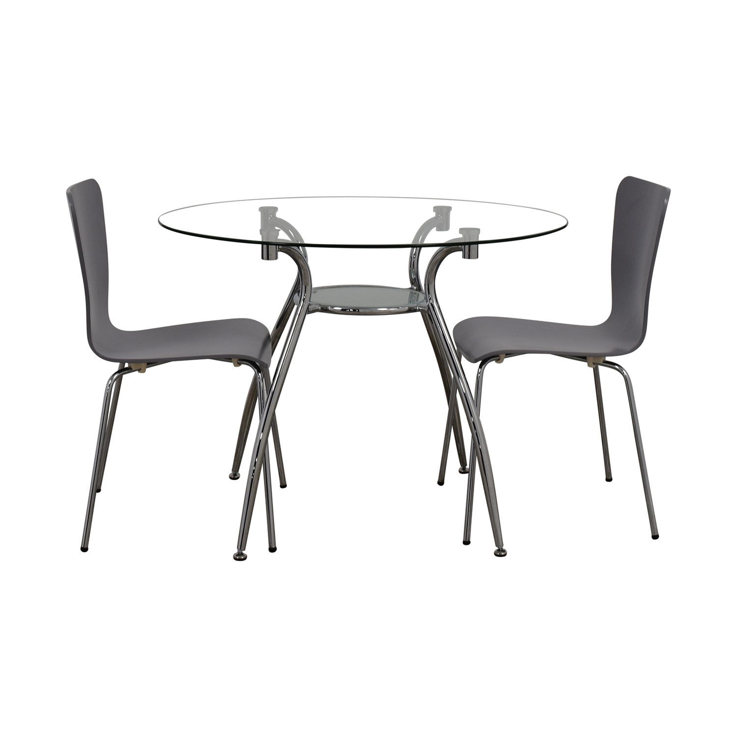 Glass Round Table Set with Chairs nj