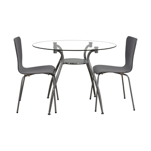 Glass Round Table Set with Chairs dimensions