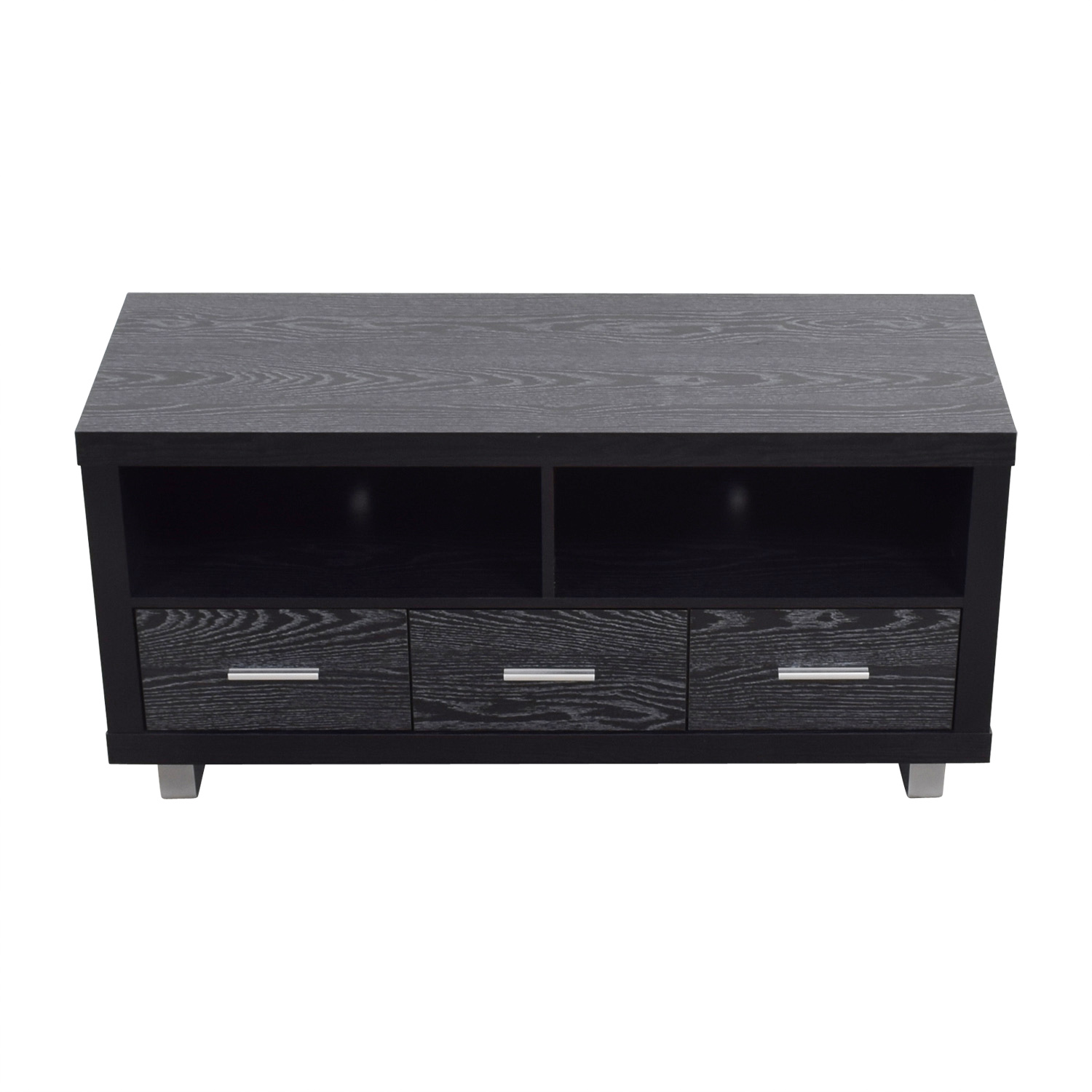 Coaster Black Three-Drawer Media Cabinet / Storage