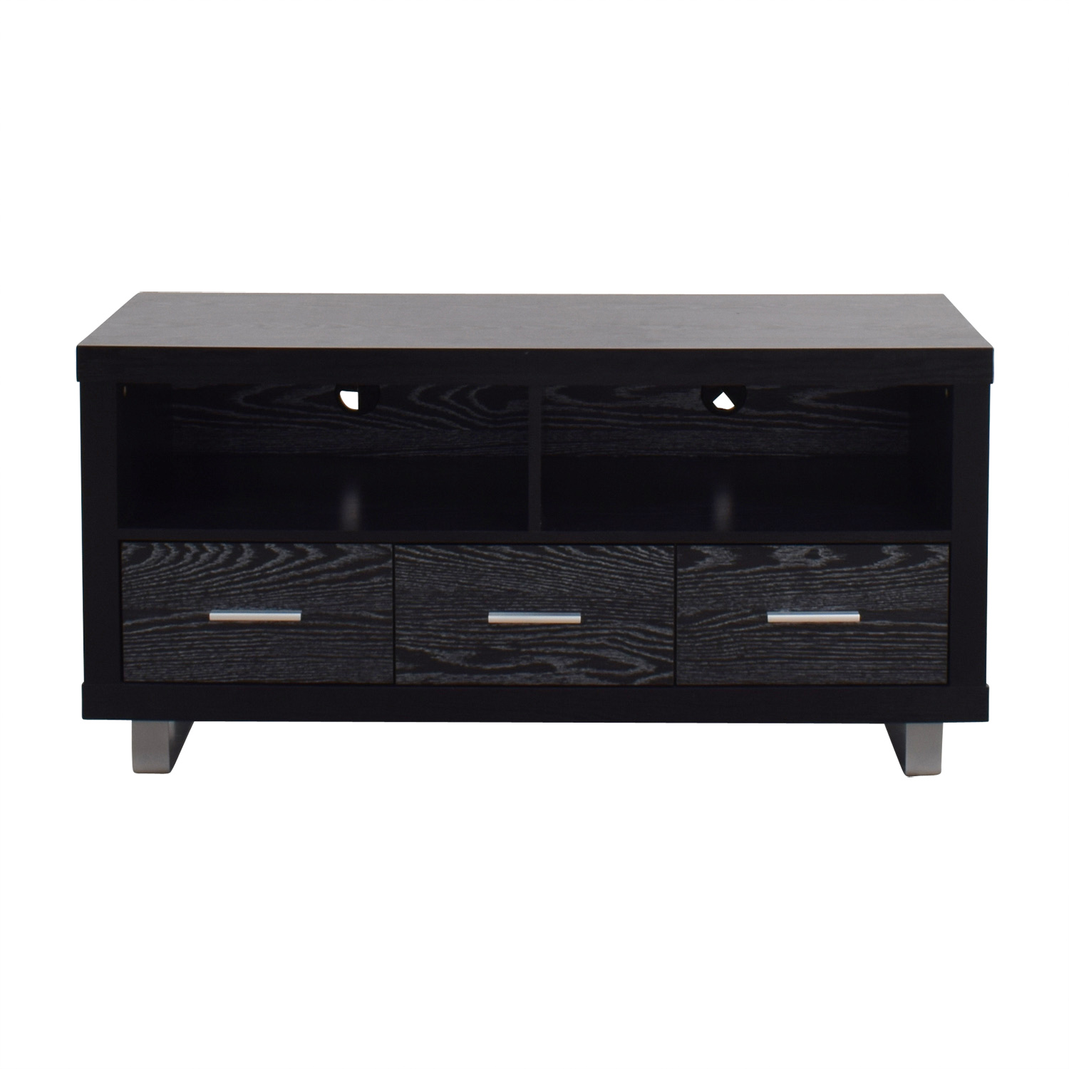 Coaster Coaster Black Three-Drawer Media Cabinet Storage