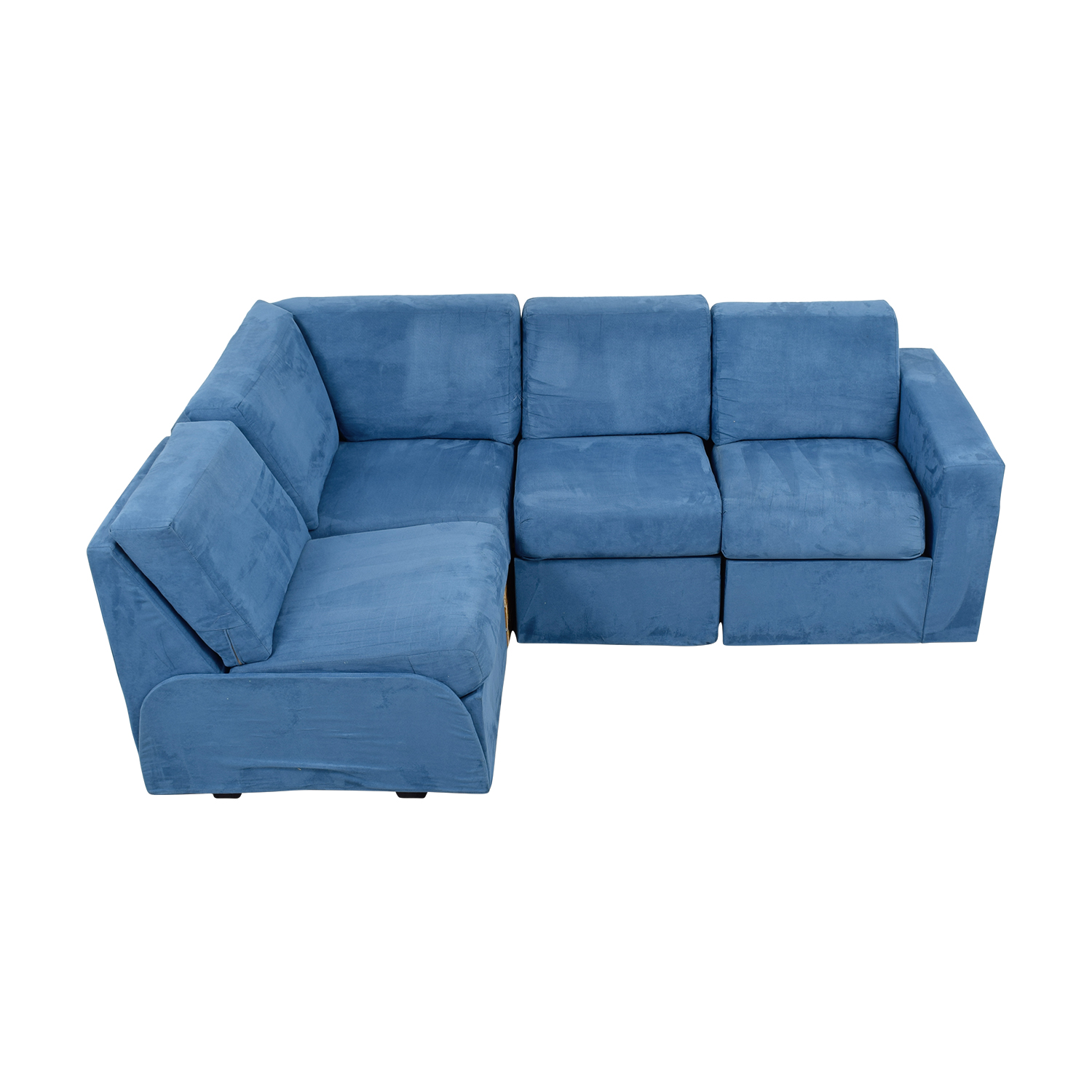 Home Reserve Home Reserve Ray Blue Tux Arm Sectional Sofas