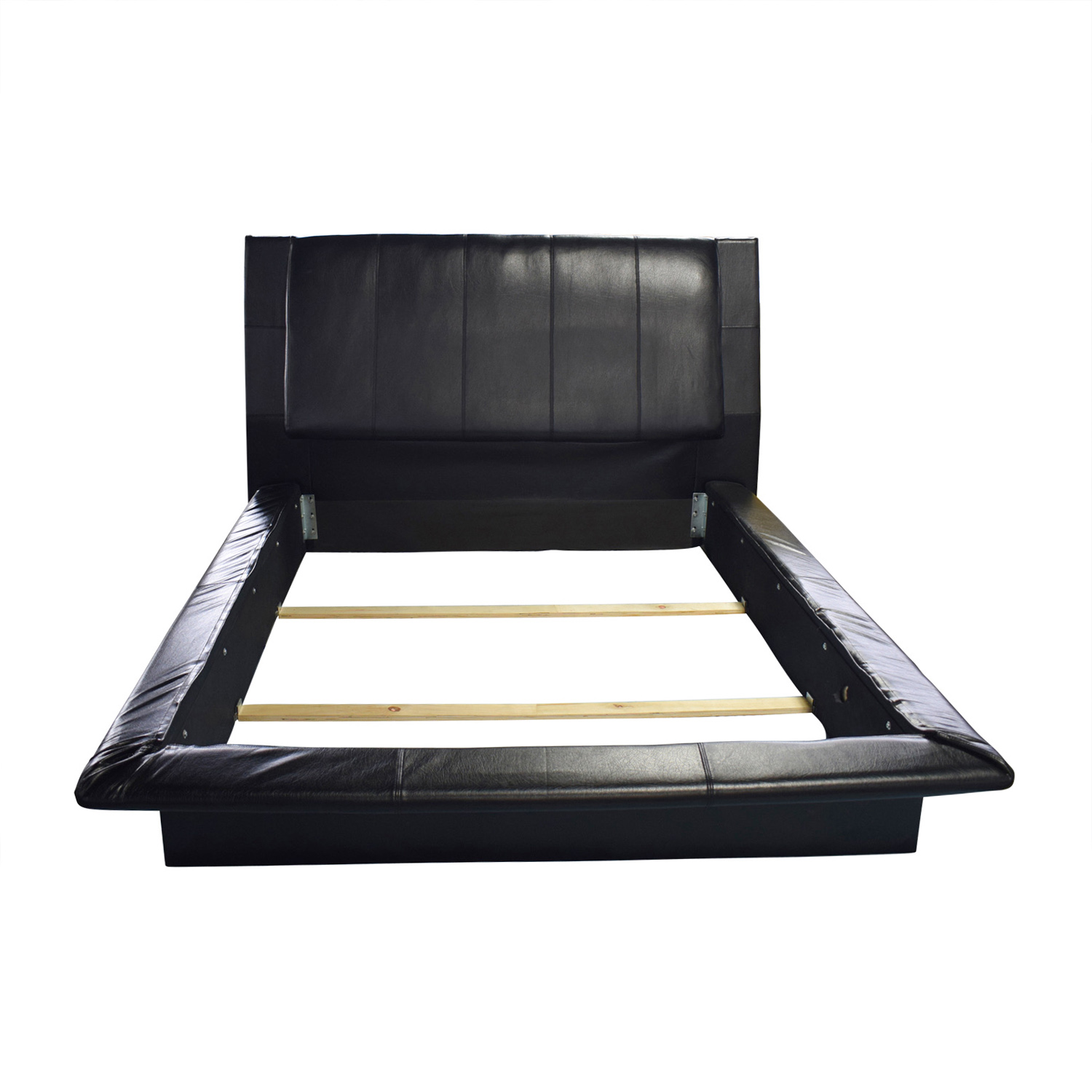 Black Leather Queen Bed Frame nj