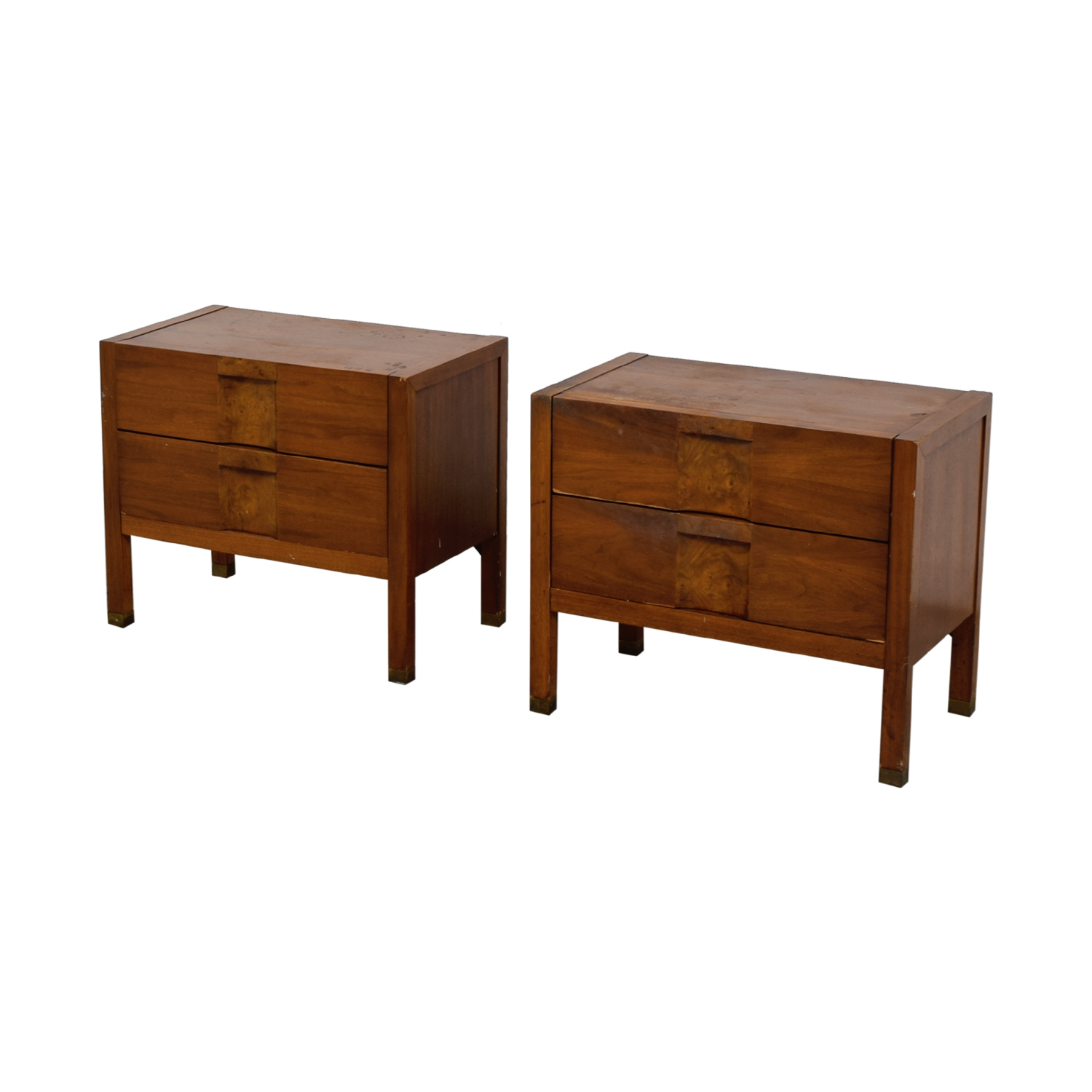 Two-Drawer Wood Nightables sale