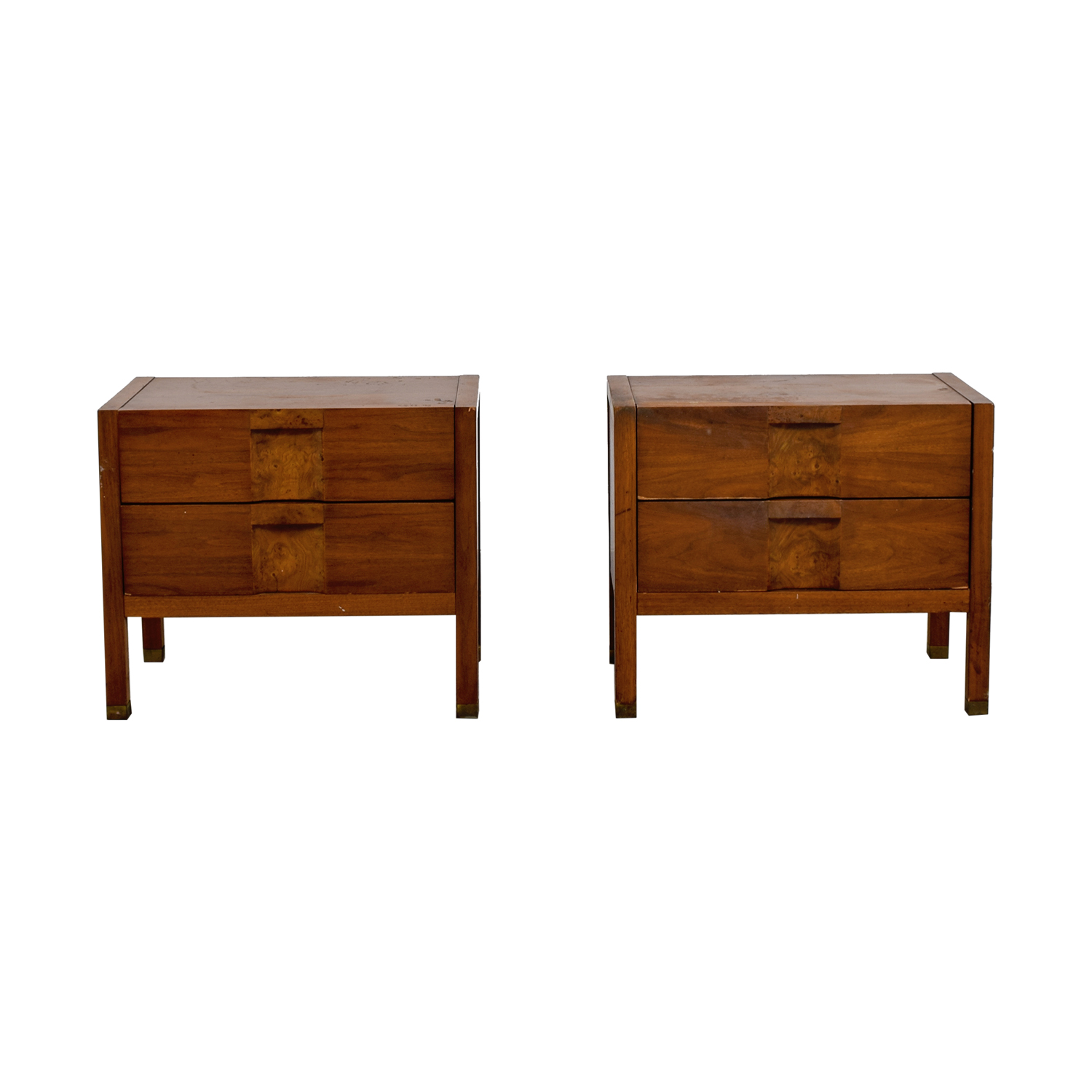Two-Drawer Wood Nightables Tables