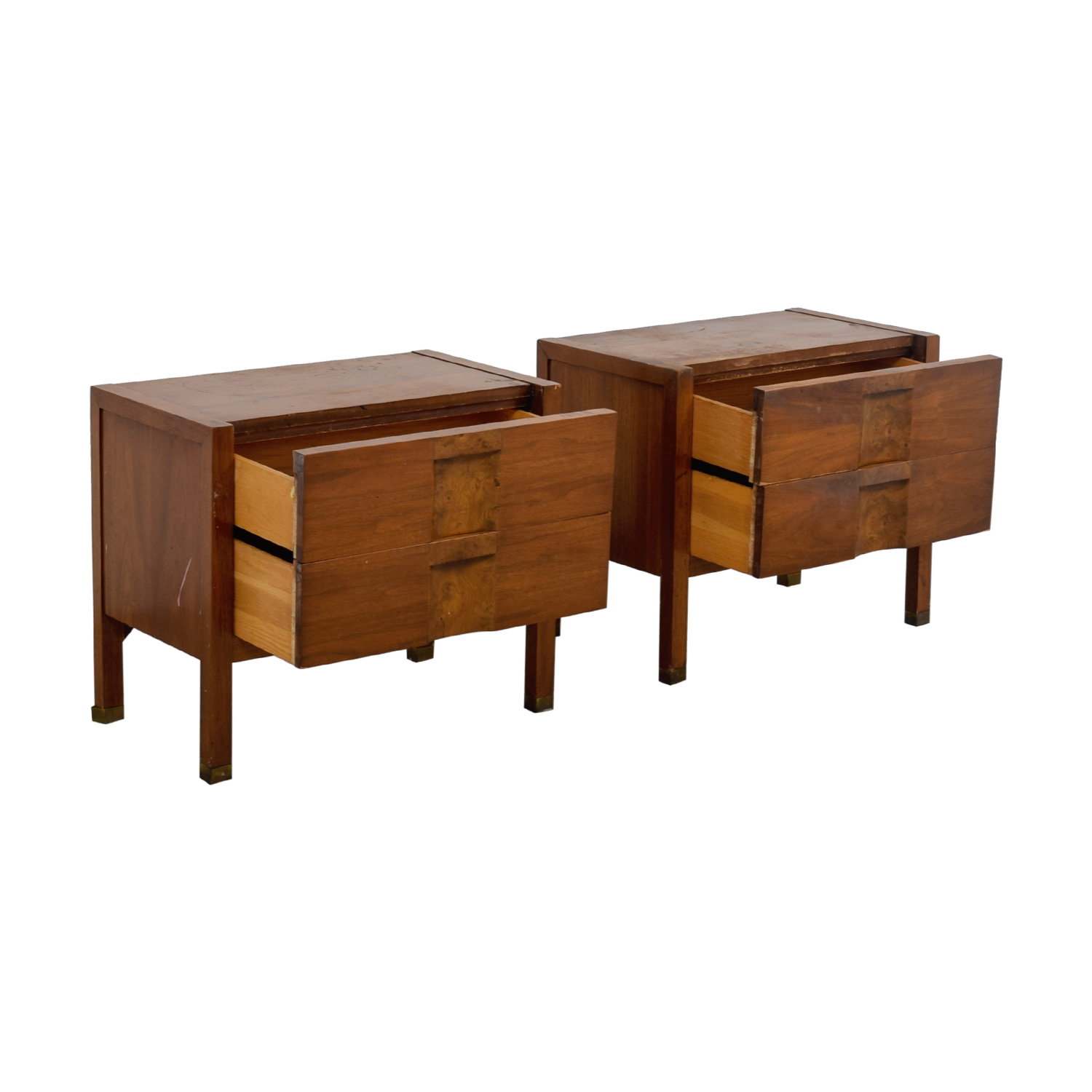 Two-Drawer Wood Nightables / Tables