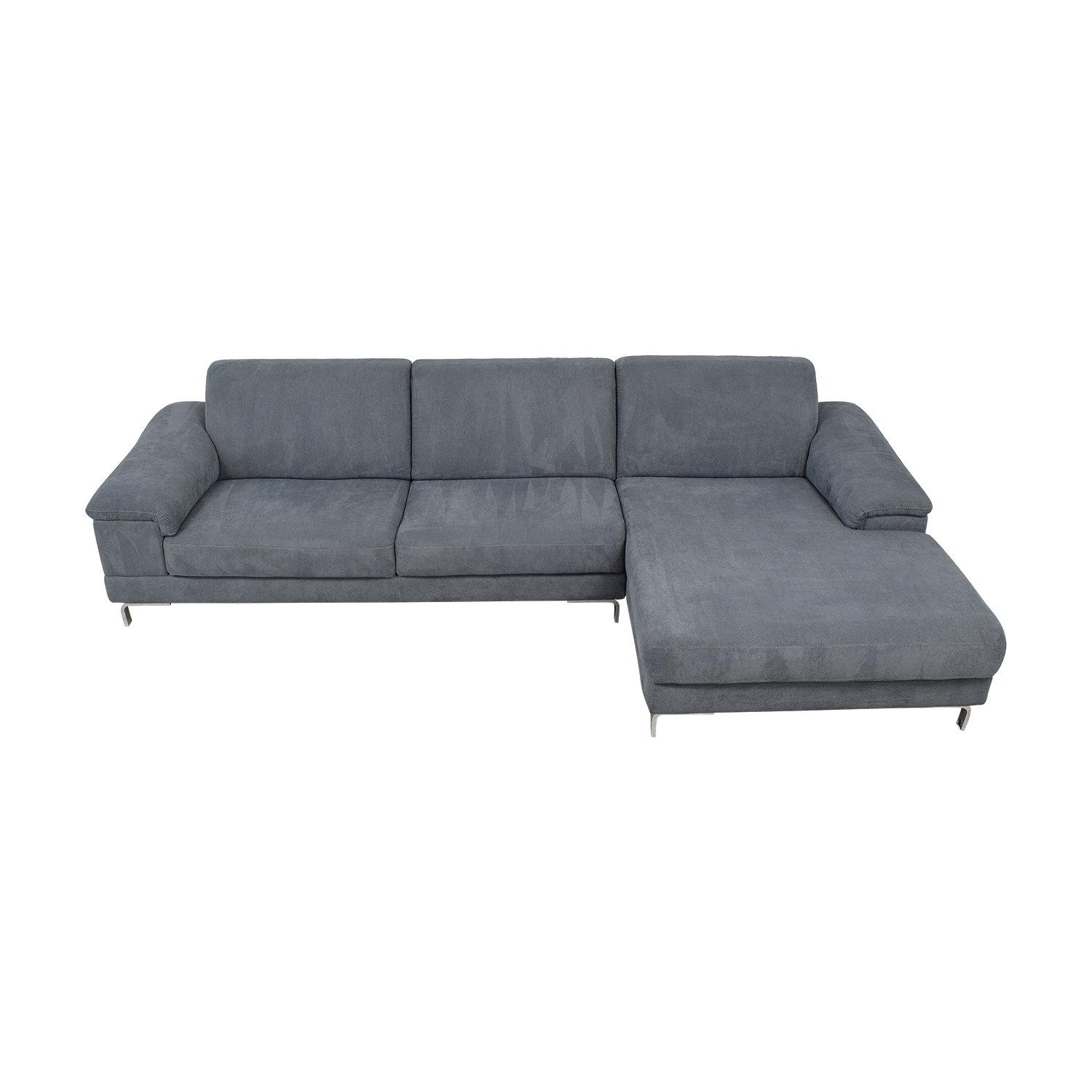 Bloomingdale's Bloomingdale's Grey Italian Fabric Chaise Sectional dimensions