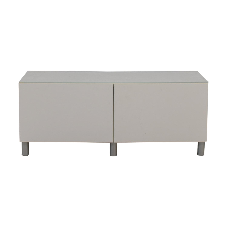 77% OFF   IKEA IKEA White TV Console Table / Storage