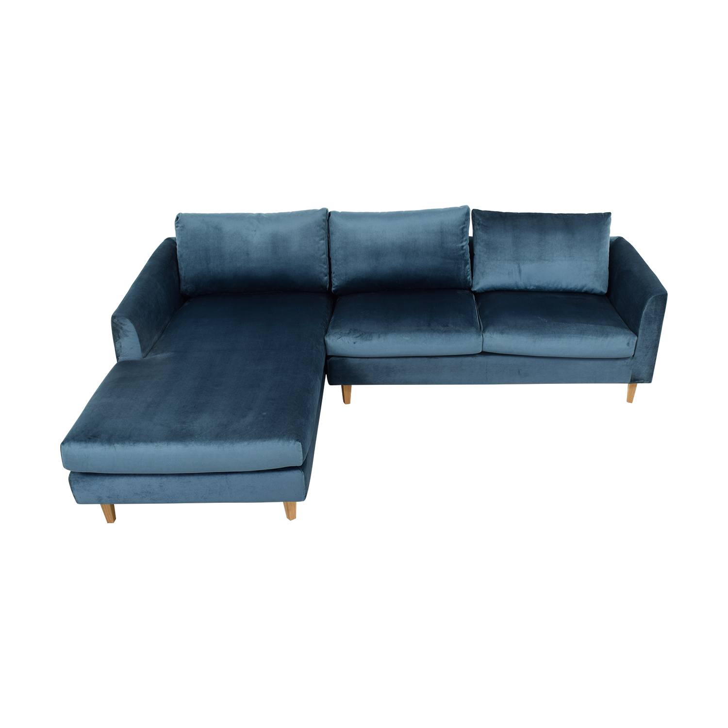 buy Owens Blue Left Chaise Sectional online