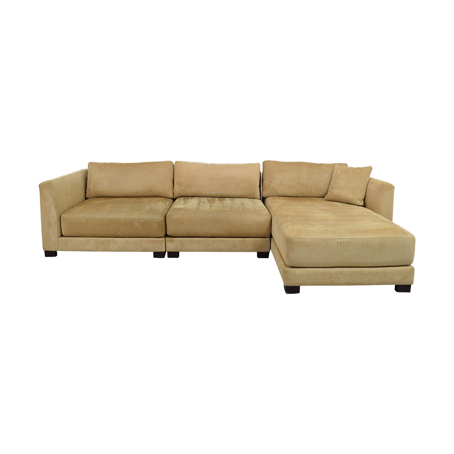 shop Tan Three-Piece Chaise Sectional Sectionals