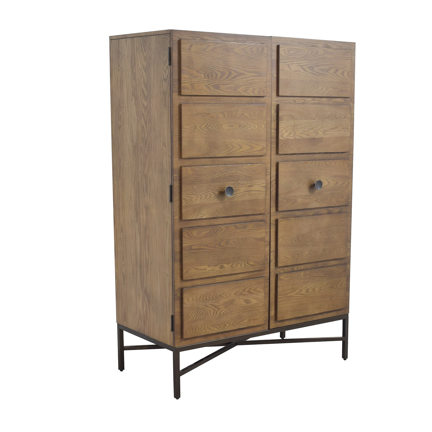 41% OFF - West Elm West Elm Paneled Armoire / Storage