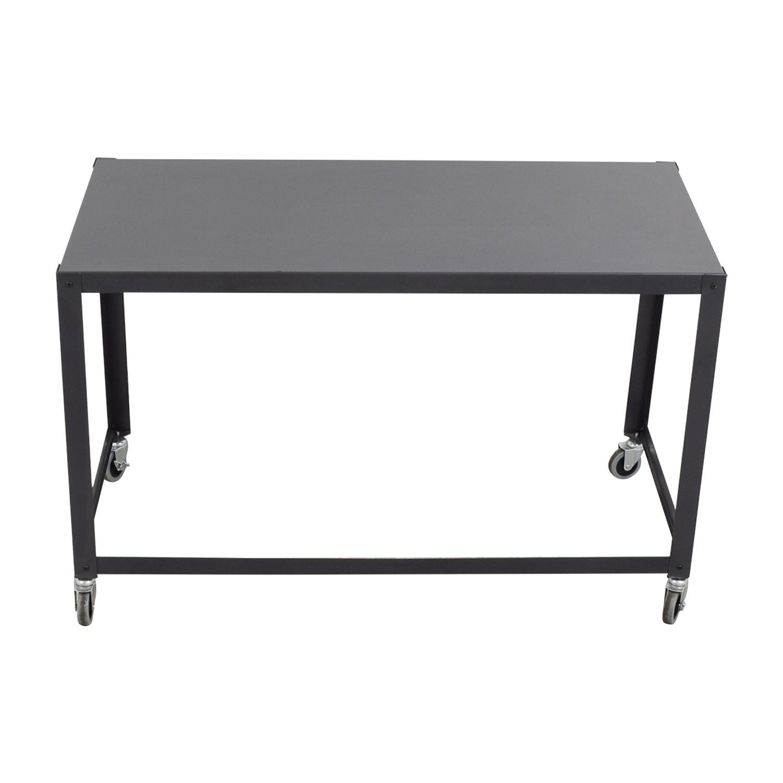 Grey Office Desk on Castors second hand
