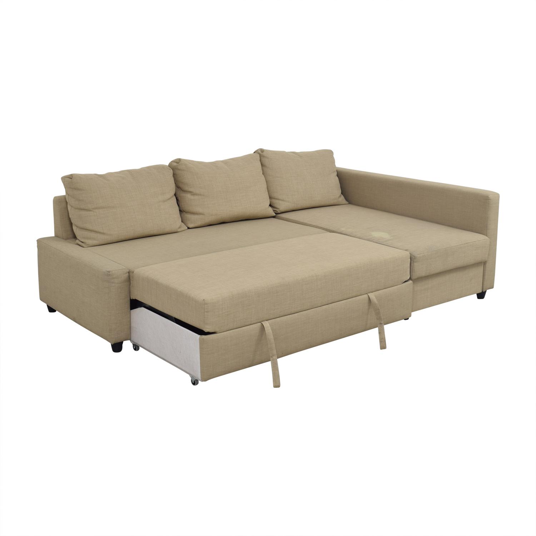 - 79% OFF - IKEA IKEA Friheten Tan Sleeper Sectional / Sofas