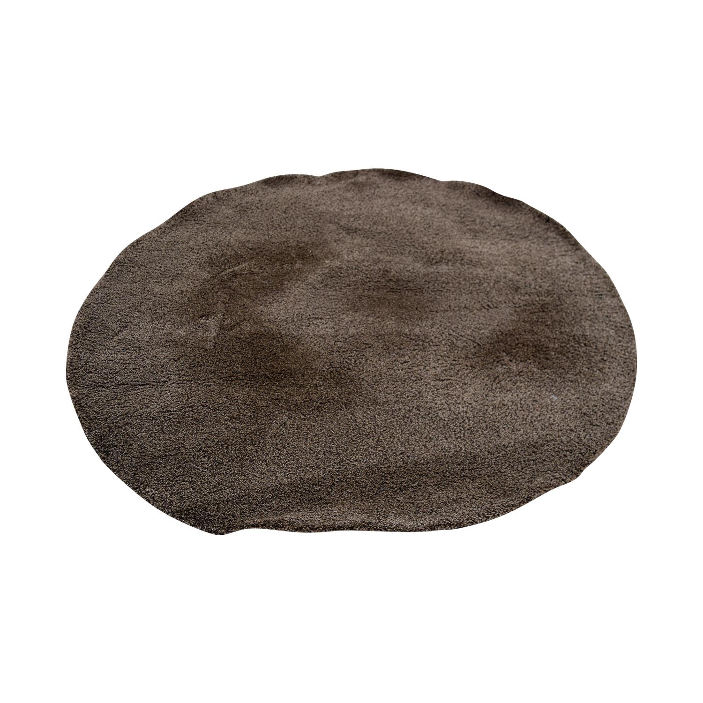 buy IKEA IKEA Grey Round Rug online