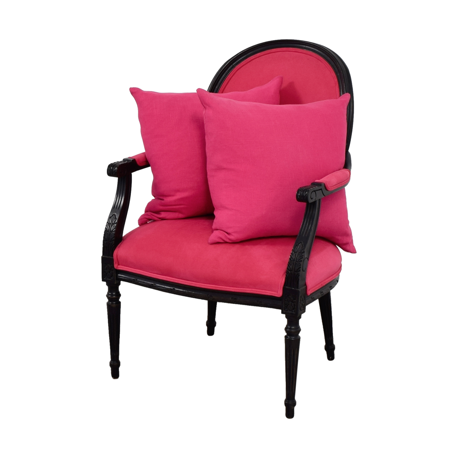 Black Arm Chairs ~ Off ethan allen fuchsia upholstered