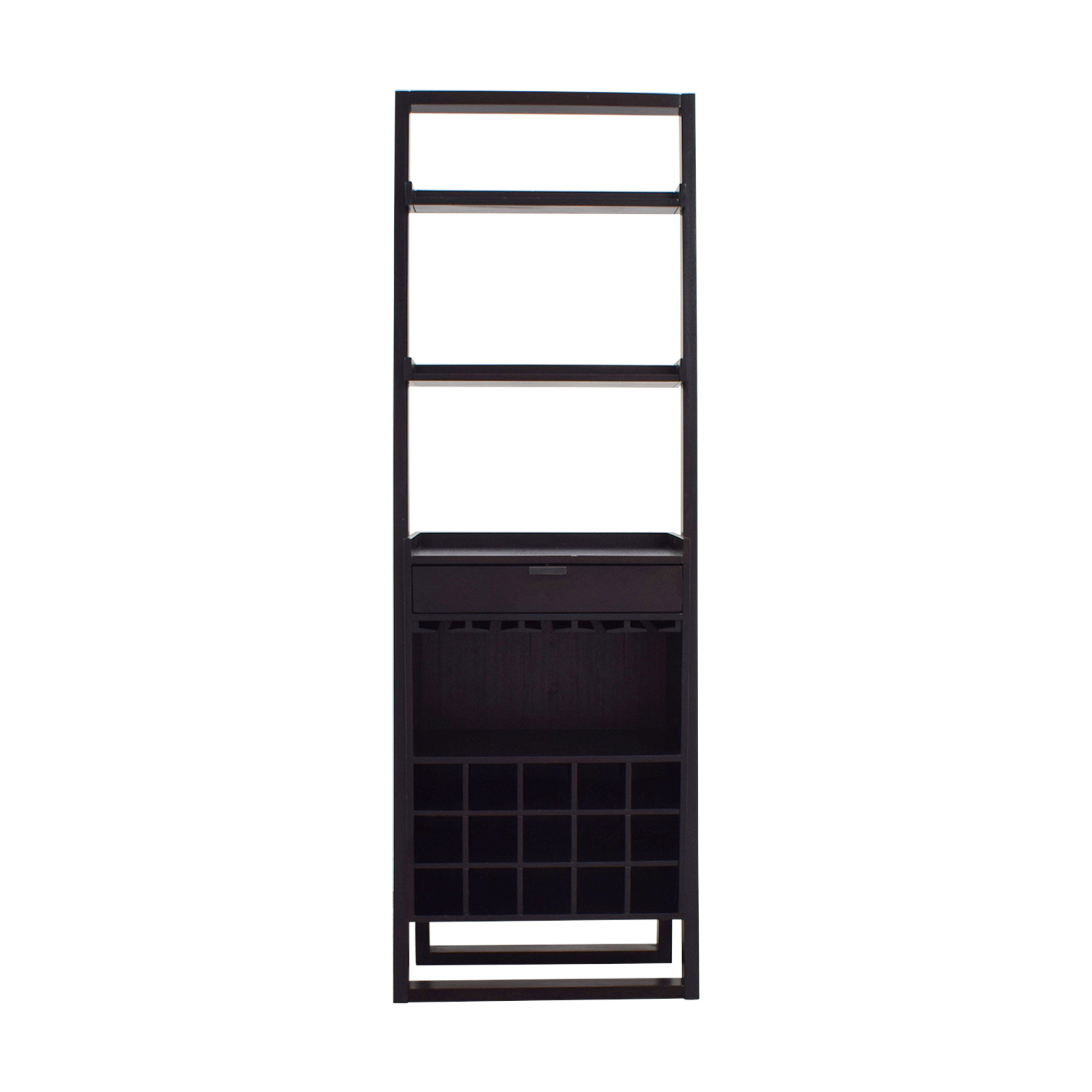 buy Crate & Barrel Wine Bar with Leaning Shelves Crate & Barrel Bookcases & Shelving