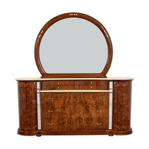 buy  Art Deco Dresser with Marble Top and Mirror online