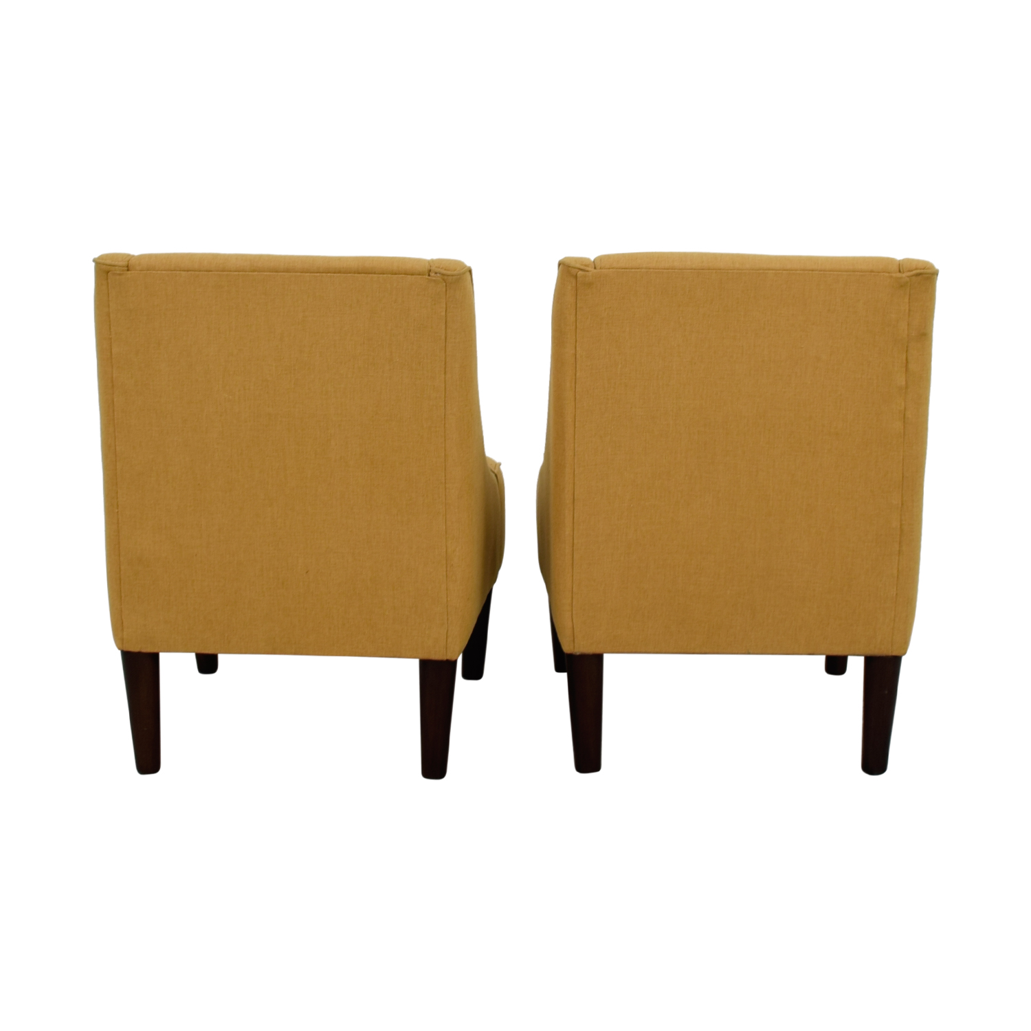 Thomas Paul Thomas Paul Mustard Tufted Accent Chairs second hand