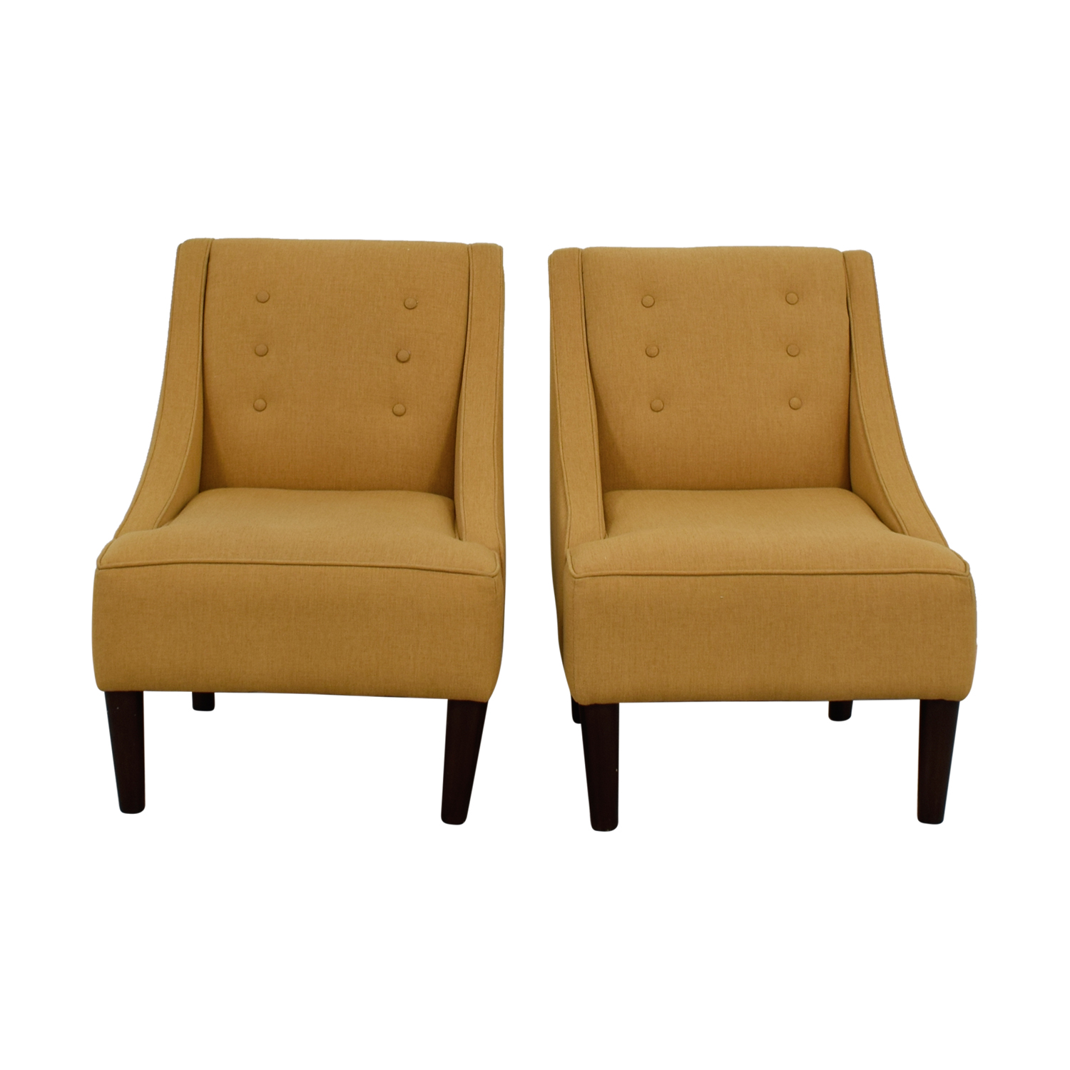 buy Thomas Paul Thomas Paul Mustard Tufted Accent Chairs online
