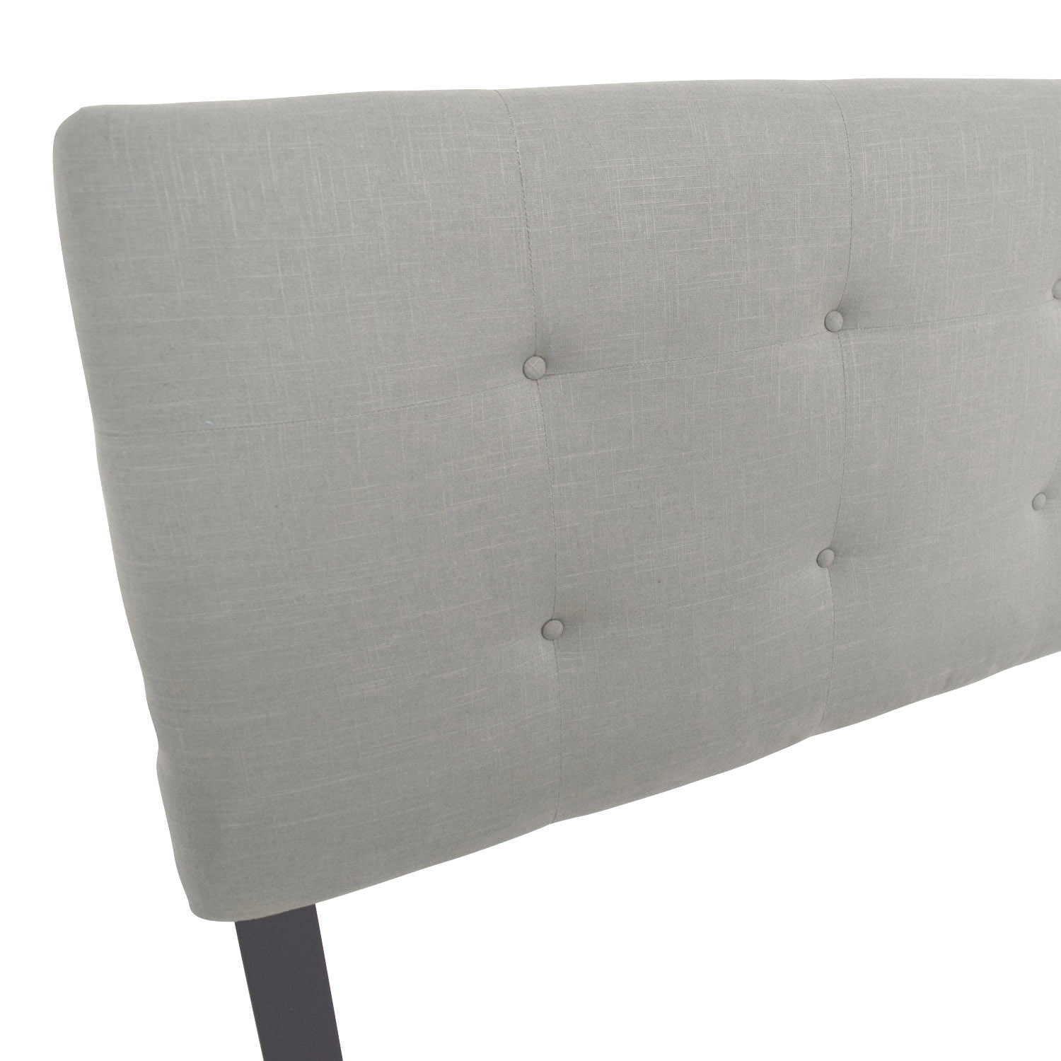 full gray headboard size shines jazmin button designer hodedah of light with wood platform queen charcoal fabulous contemporary our features panel upholstered leather tufted linen grey