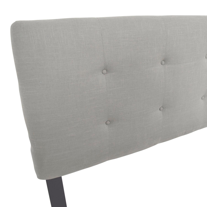 wingback grey velvet furniture itm tufted image is diamond loading headboard light in skyline