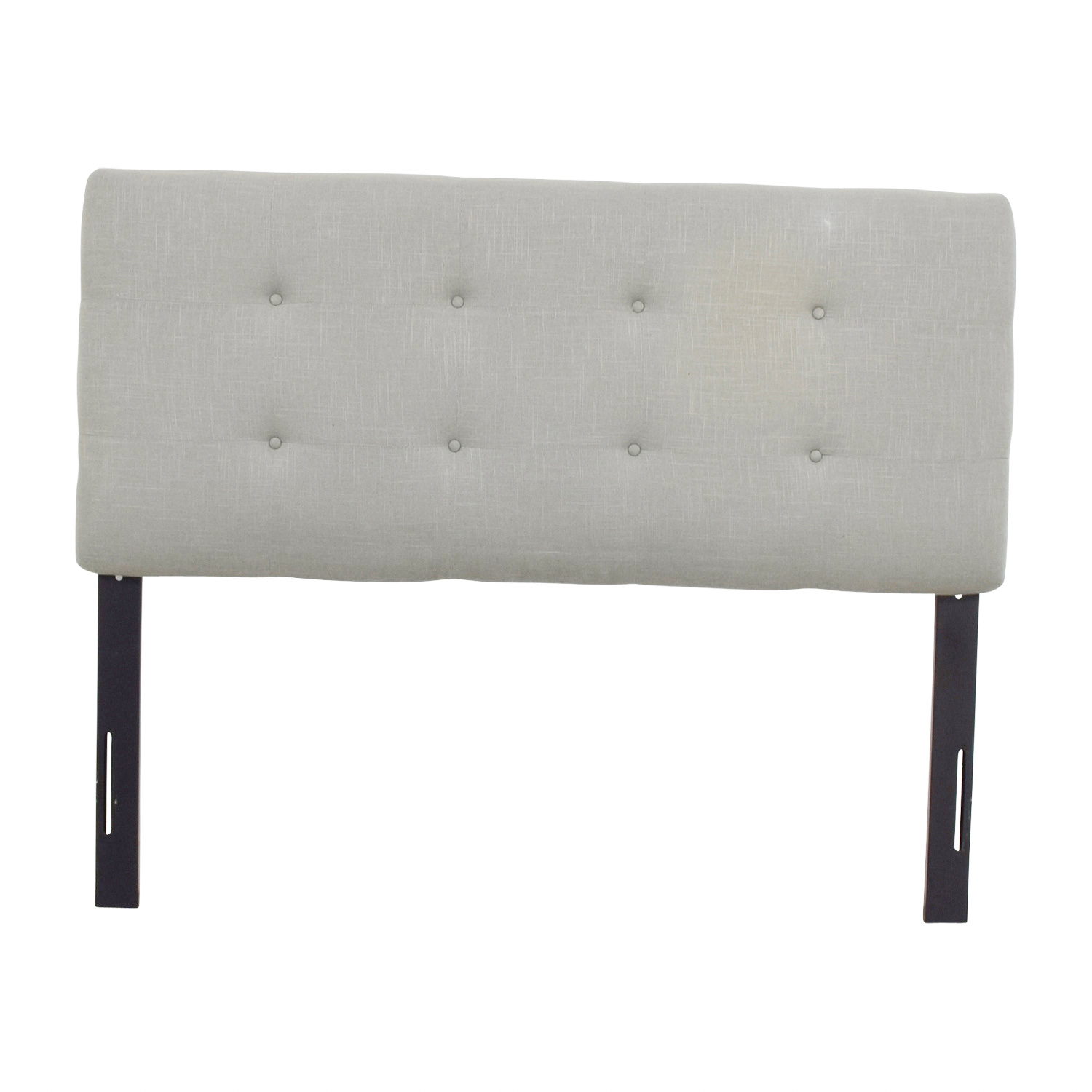 buy Thomas Paul Grey Tufted Linen Queen Headboard Thomas Paul Sofas