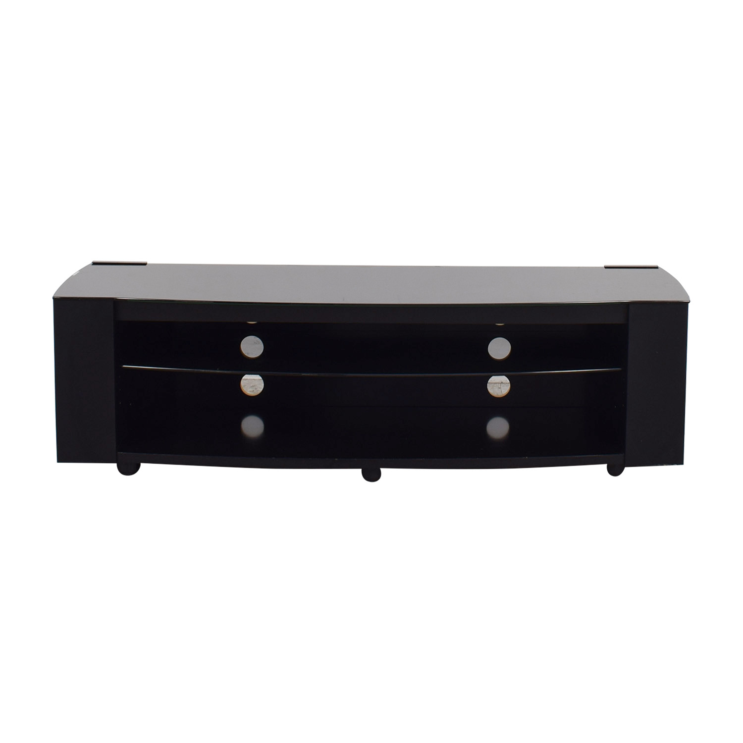 shop Black TV Console with Shelves online