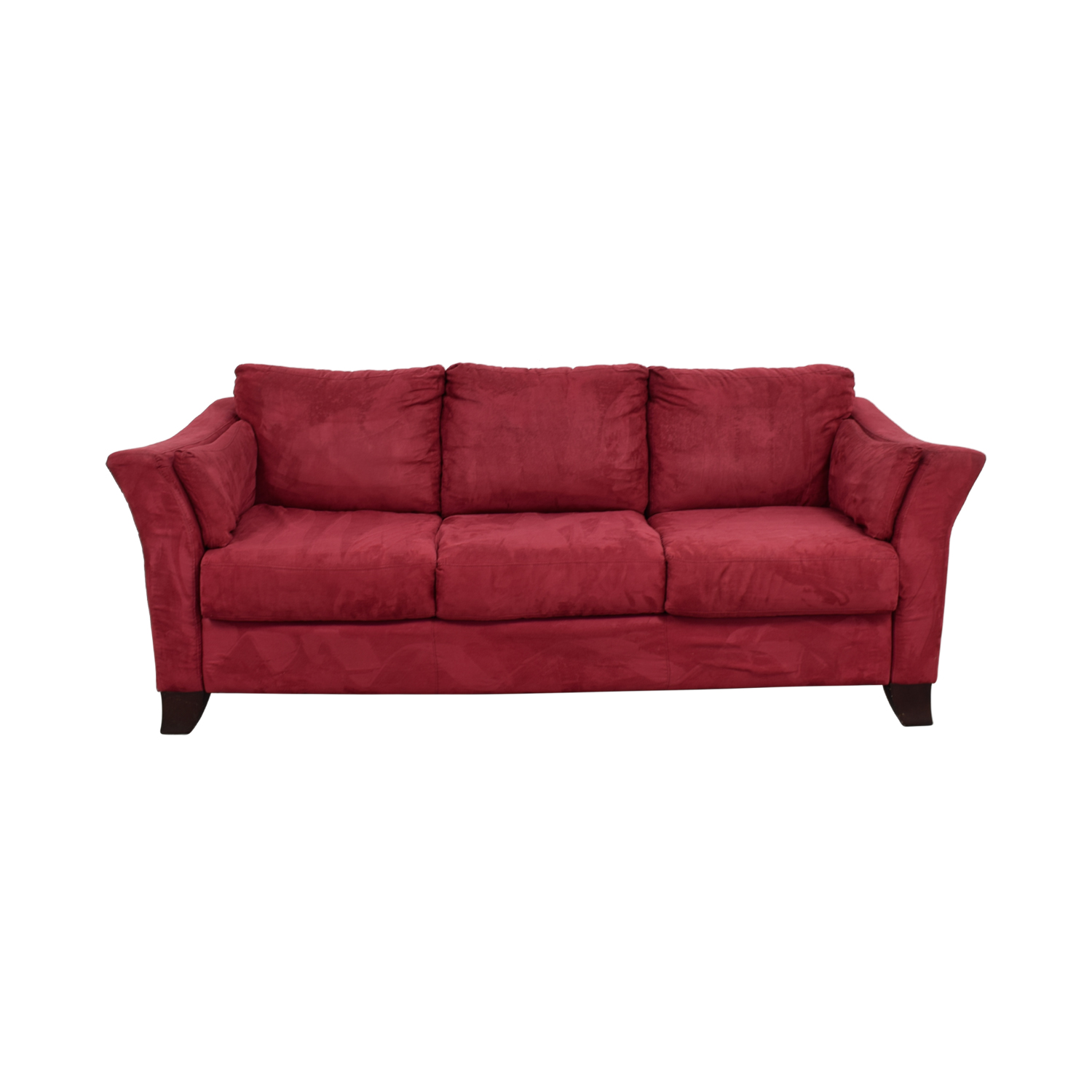 buy Jennifer Convertable Microfiber Red Three-Cushion Couch Jennifer Convertable