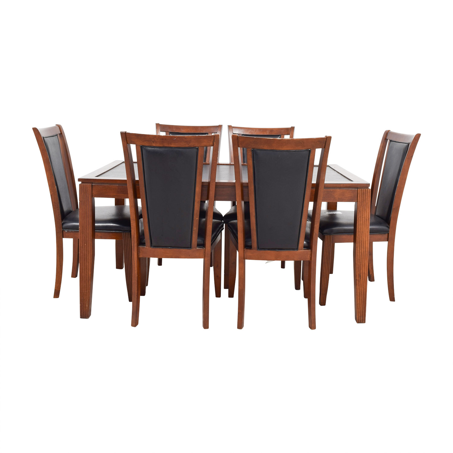Bob's Furniture Bob's Furniture Leather and Wood Dining Set nj