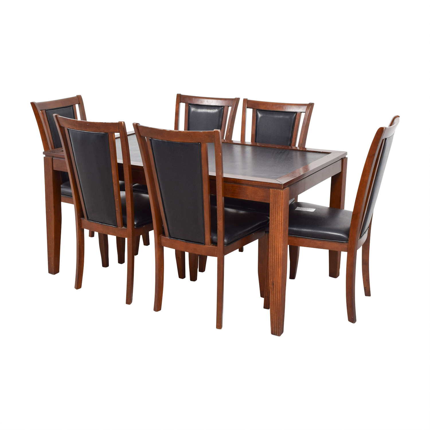 40 Off Bob S Furniture Bob S Furniture Leather And Wood Dining Set Tables