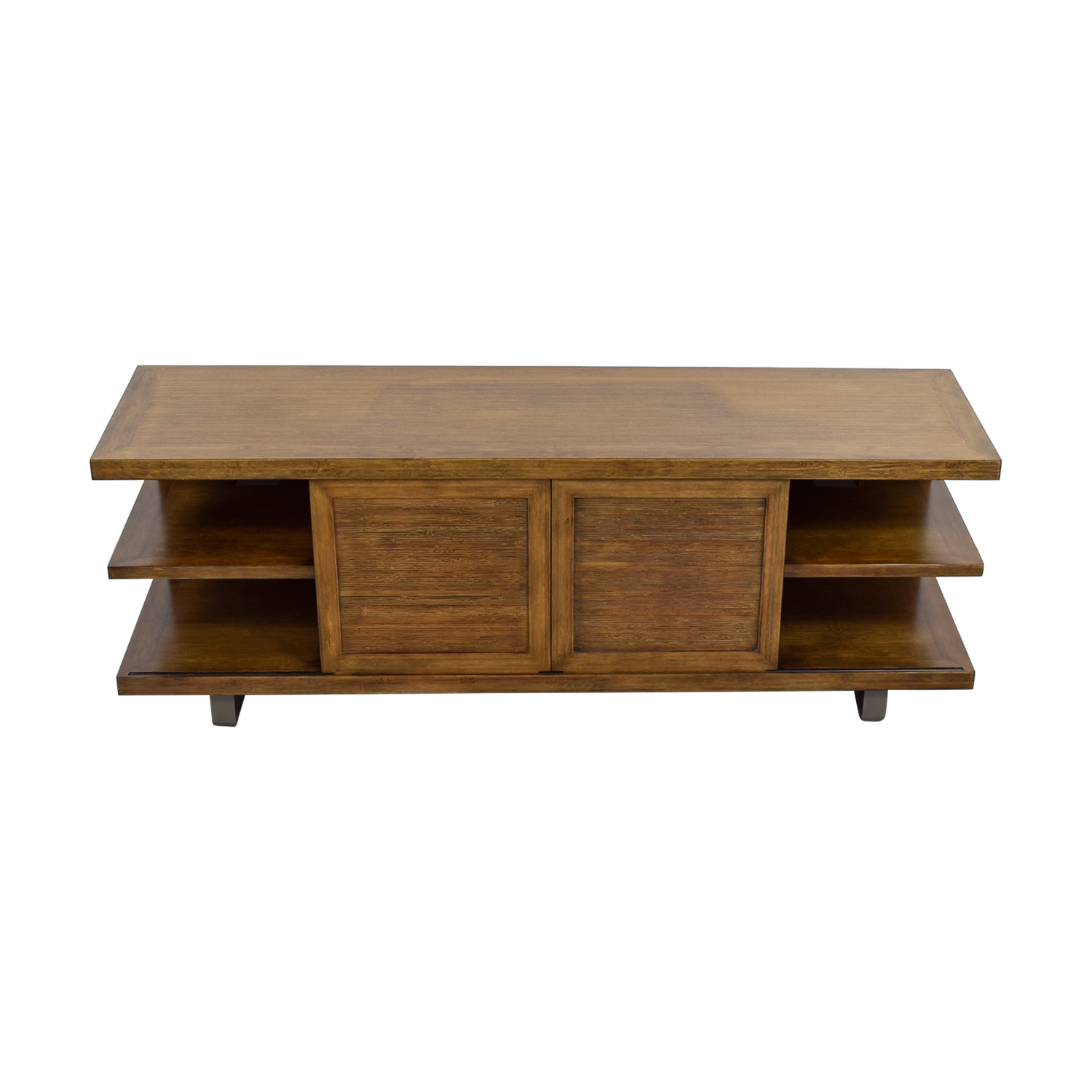 shop Pottery Barn Wood TV Console Pottery Barn