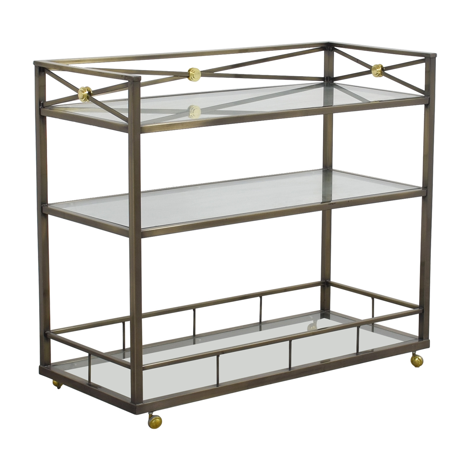 79 Off Macy S Macy S Glass And Metal Bar Tables