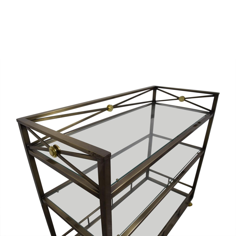 Glass Coffee Table Macys: Macy's Macy's Glass And Metal Bar / Tables